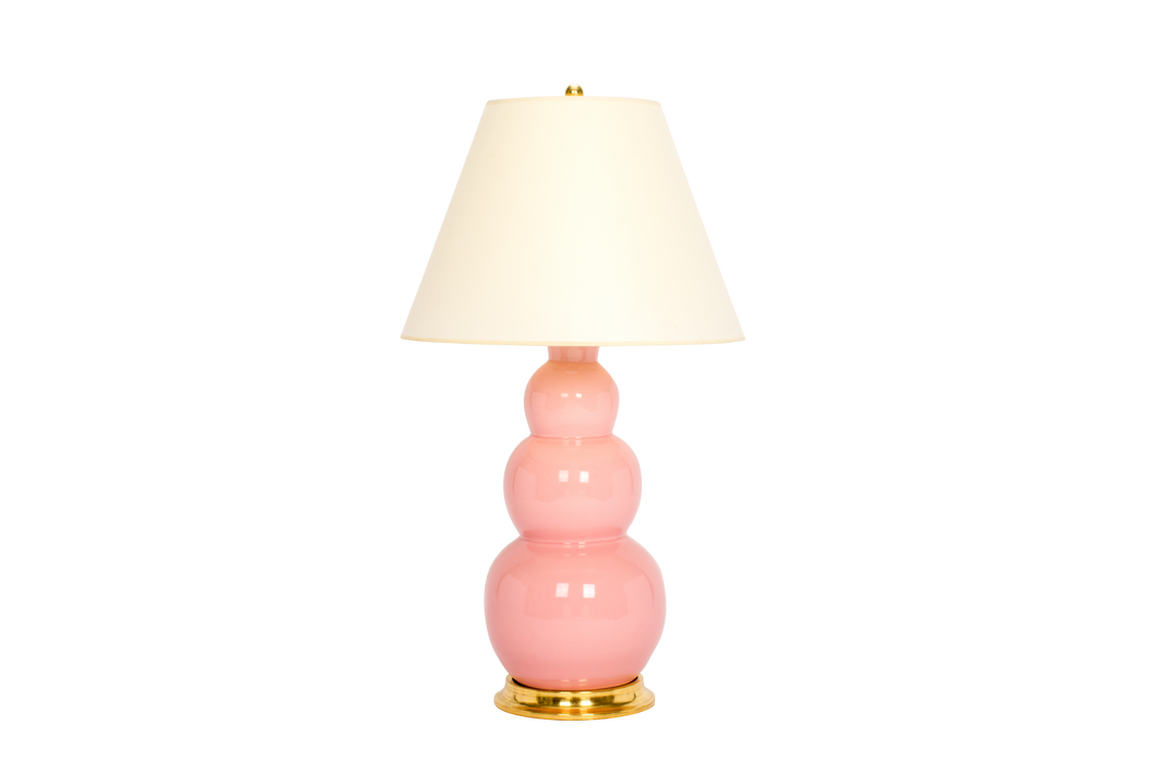 Three Ball Large Lamp in Shell Pink