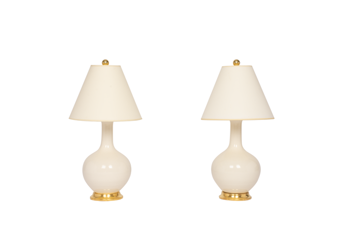 Lindsay Lamp Pair in Blanc de Chine