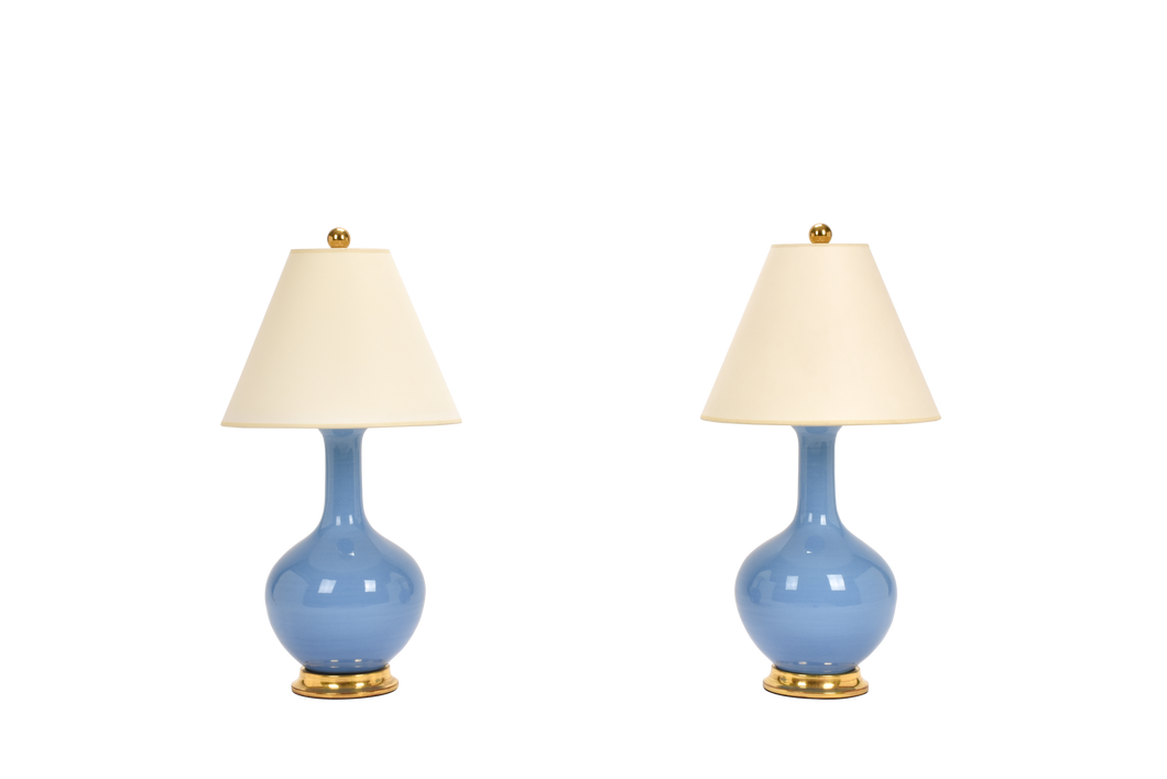 Lindsay Lamp Pair in Cornflower