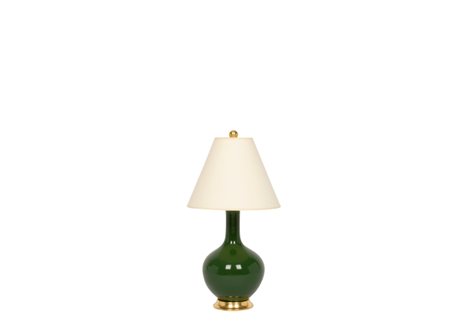 Lindsay Lamp in Dark Green