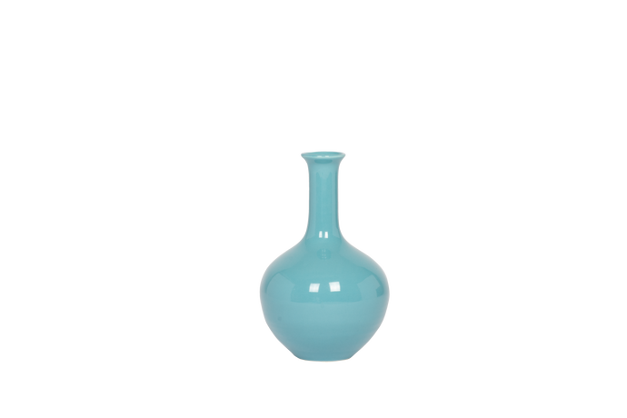 Hand Thrown Lindsay Vase in Aqua