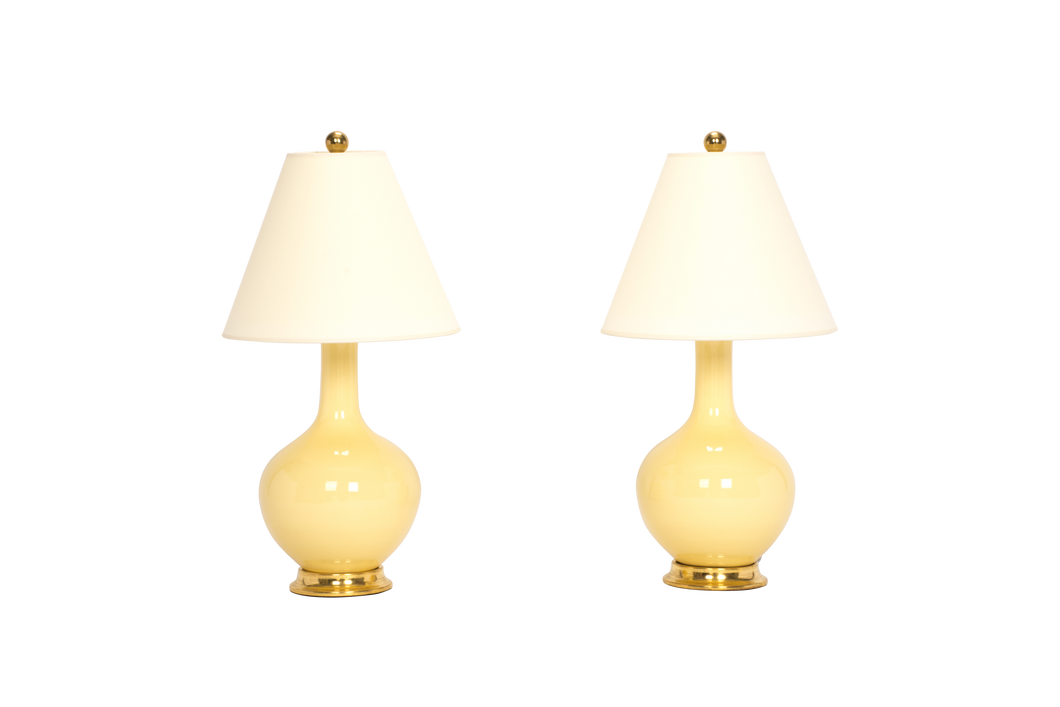 Lindsay Lamp Pair in Butter