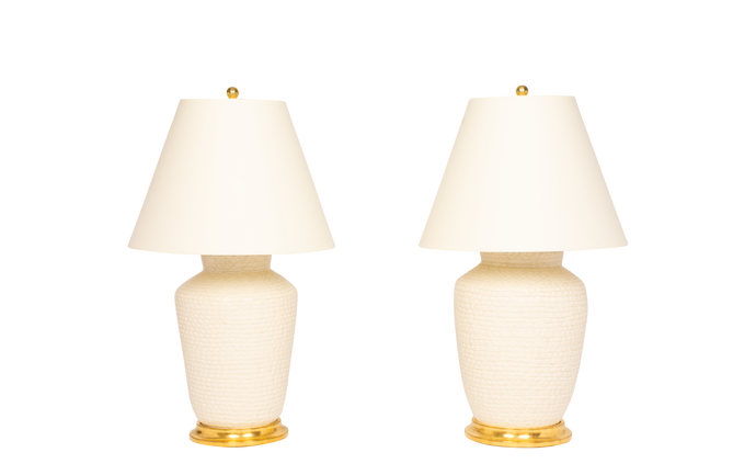 Mark Lamp Pair in Clear