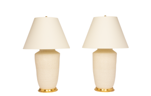 Mark Large Lamp Pair in Clear