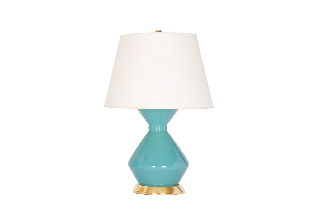 Hager Medium Lamp in Aqua