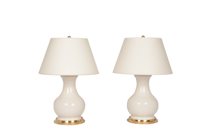 Hann Medium Lamp Pair in Blanc de Chine