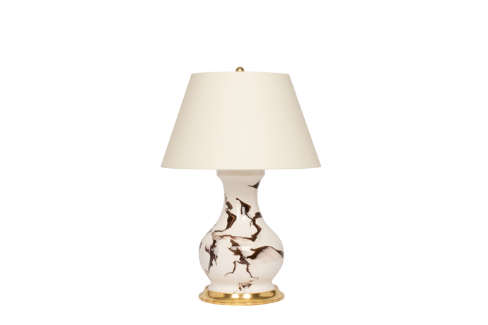 Hann Medium Lamp in Brown Marble
