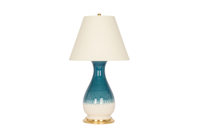 Louisa Medium Lamp in Prussian Blue Ombre