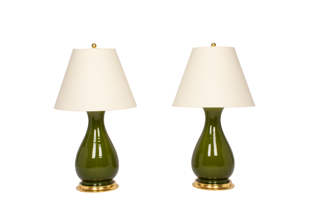 Louisa Medium Lamp Pair in Spruce