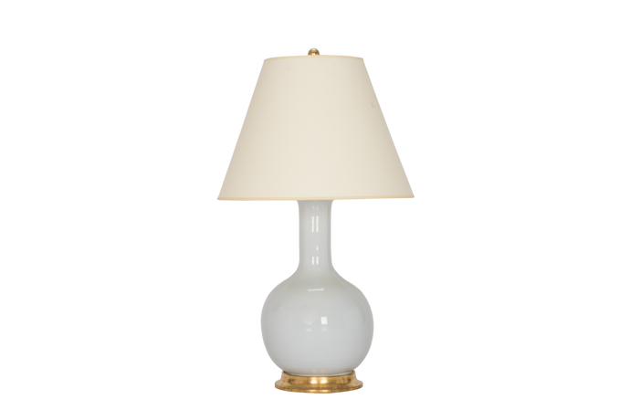 Single Gourd Medium Lamp in Hope Blue