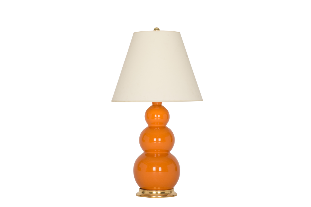 Three Ball Medium Lamp in Burnt Orange