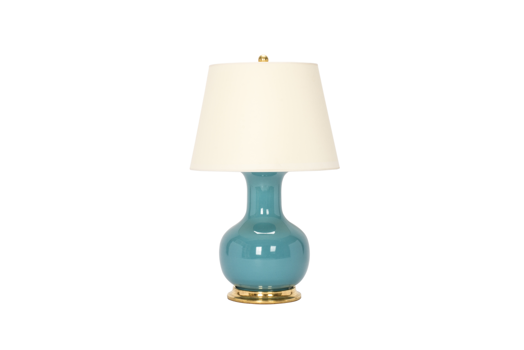 William Medium Lamp in Aqua