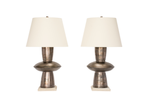 Medium Alexa Lamp Pair in Matte Bronze