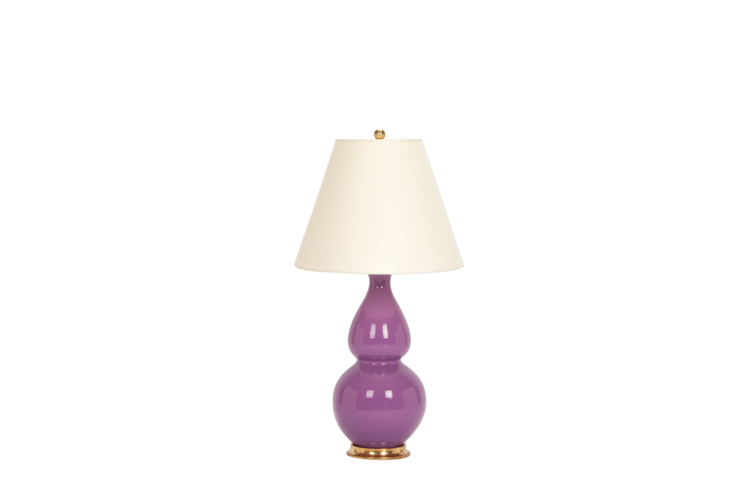 Double Gourd Medium Lamp in Lavender
