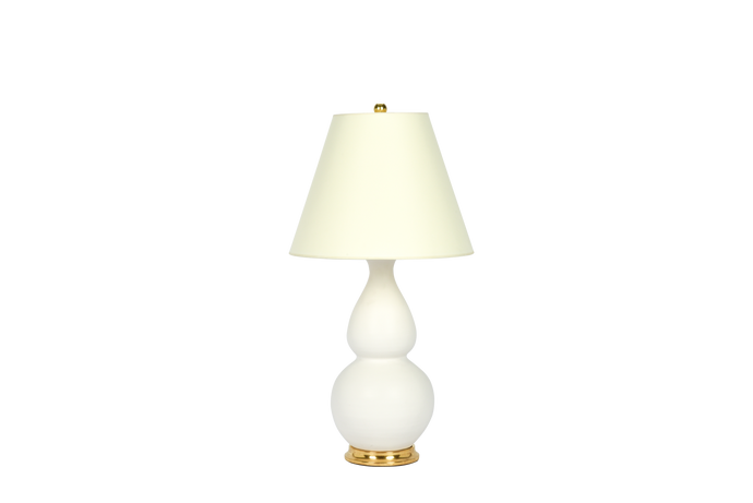 Double Gourd Medium Lamp in Matte White