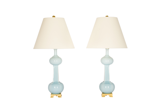Hadley Medium Lamp Pair in Hydrangea