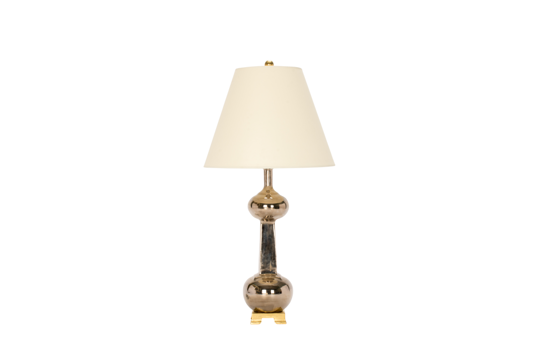Hadley Medium Lamp in Platinum Luster