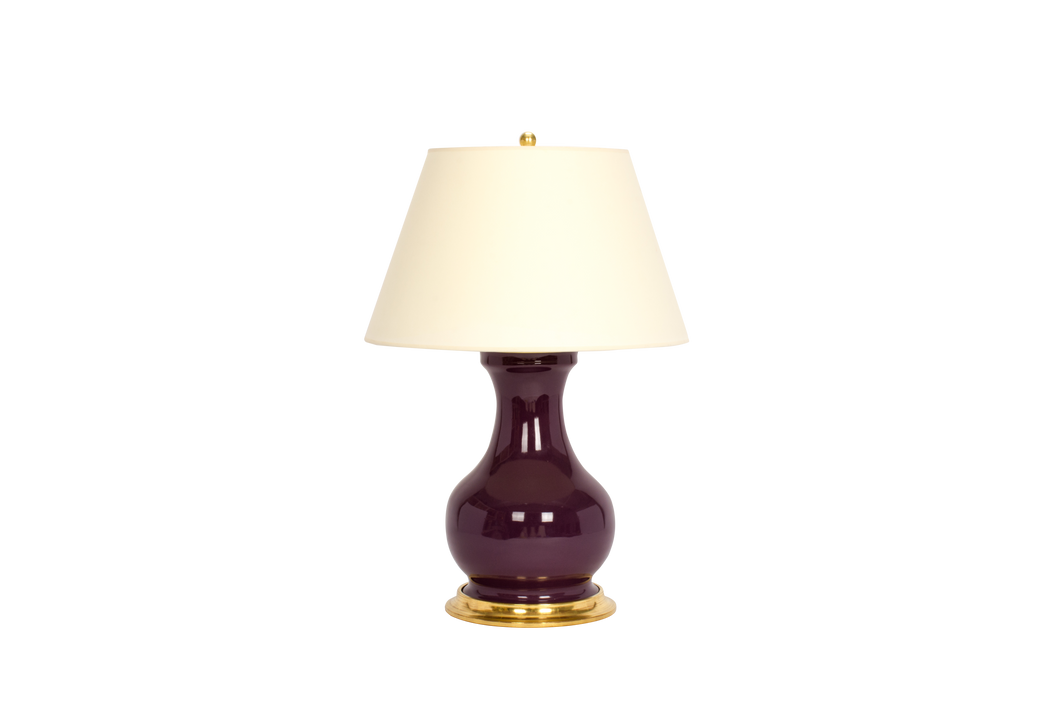 Hann Medium Lamp in Aubergine