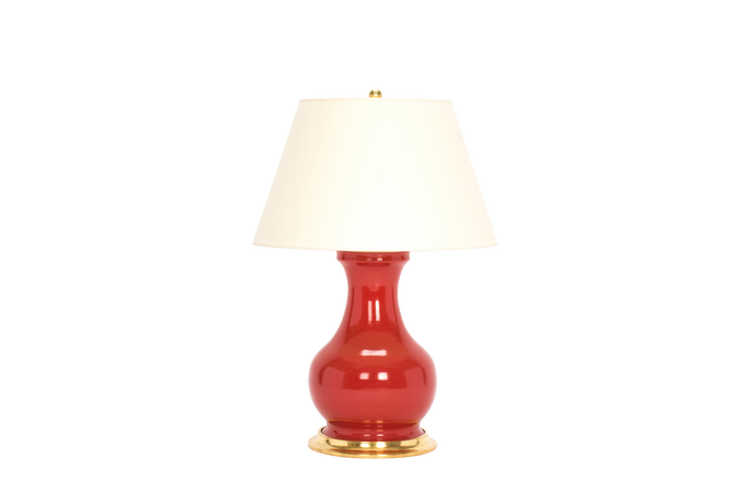 Hann Medium Lamp in Raspberry