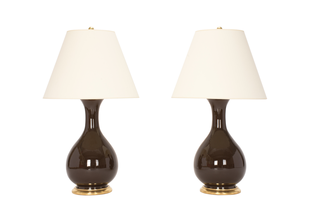 Katie Medium Lamp Pair in Walnut