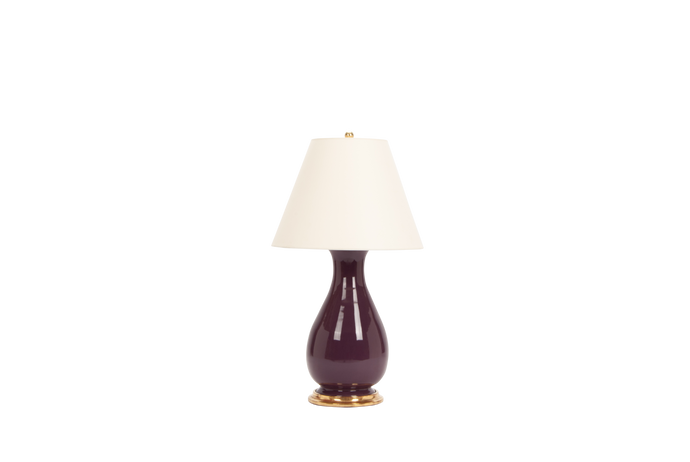 Louisa Medium Lamp in Aubergine