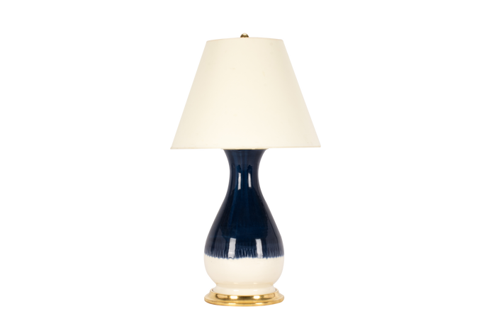 Louisa Medium Lamp in Blue Suede Ombre