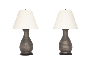Louisa Medium Lamp Pair in Matte Bronze