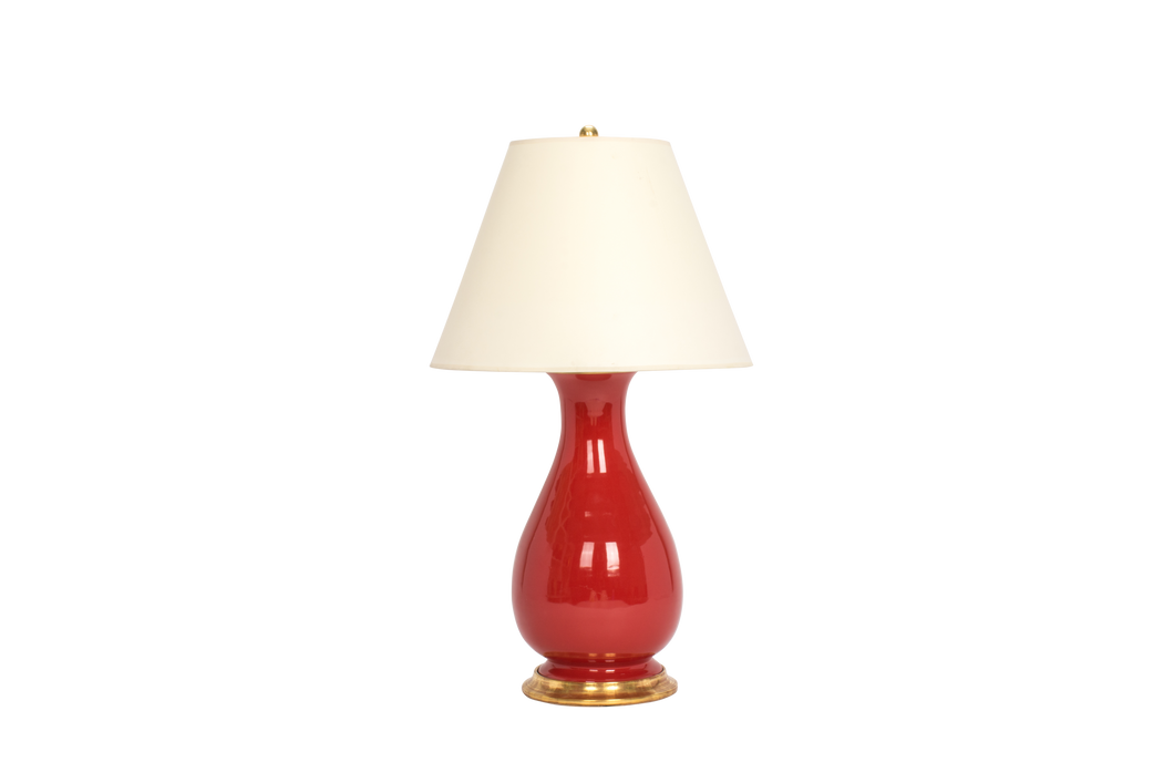 Louisa Medium Lamp in Raspberry