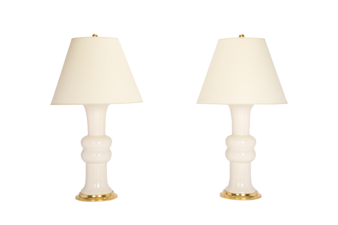 Sophie Medium Lamp Pair in Blanc de Chine