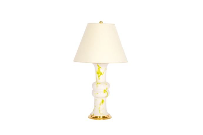 Sophie Medium Lamp in Lime Green Marble
