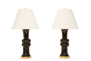 Sophie Medium Lamp Pair in Olive