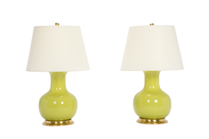 William Medium Lamp Pair in Apple Green