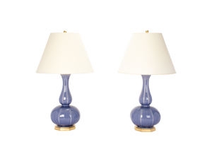 Michael Double Gourd Lamp Pair in Wisteria