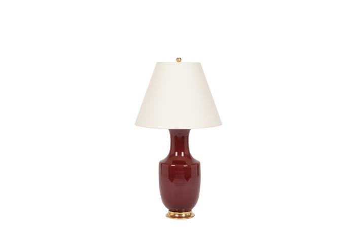 Ming Lamp in Claret