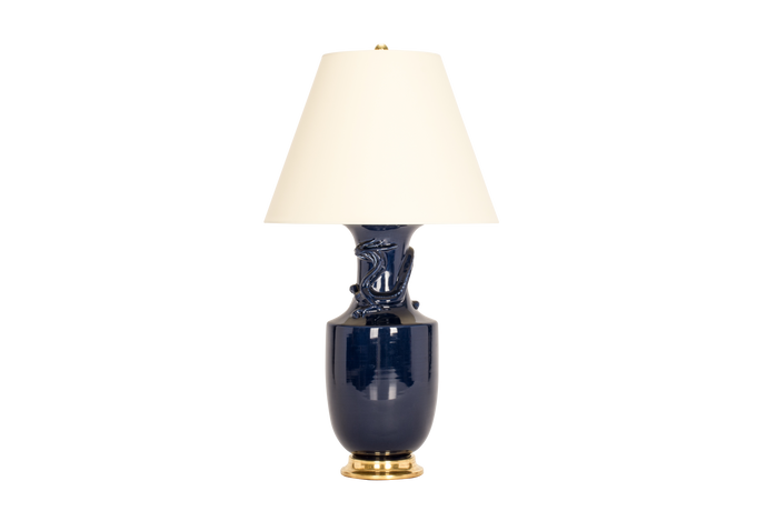 Ming with Dragon Lamp in Navy