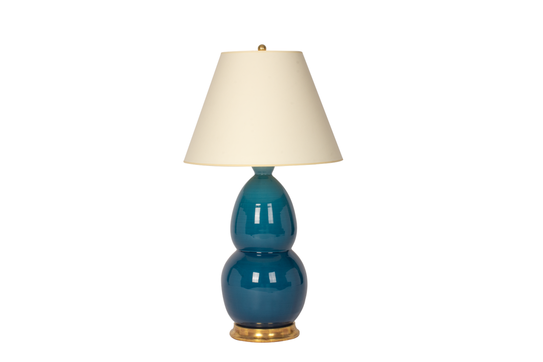 Modern Double Gourd Lamp in Prussian Blue