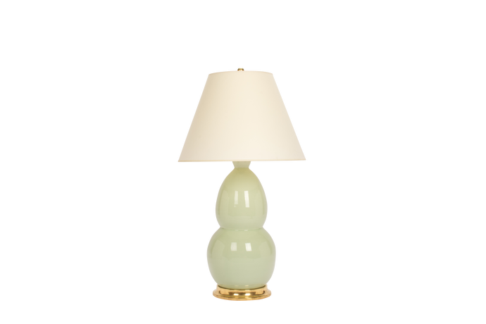 Modern Double Gourd Lamp in Blue Celadon