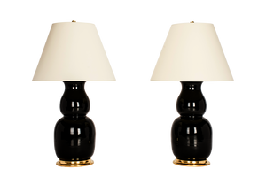 Nicholas Lamp Pair in Jet Black