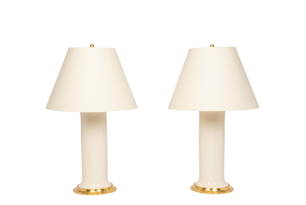 Patricia Large Lamp Pair in Blanc de Chine