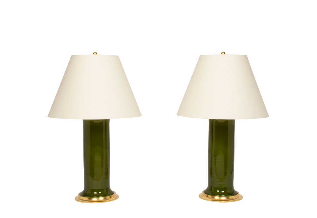 Patricia Large Lamp Pair in Spruce