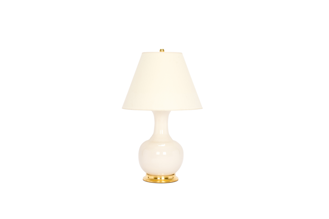 Ridged Single Gourd Lamp in Blanc de Chine
