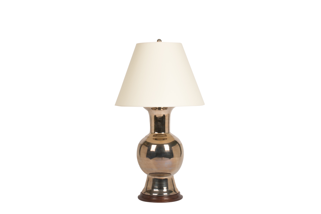 Romano Lamp in Platinum Luster