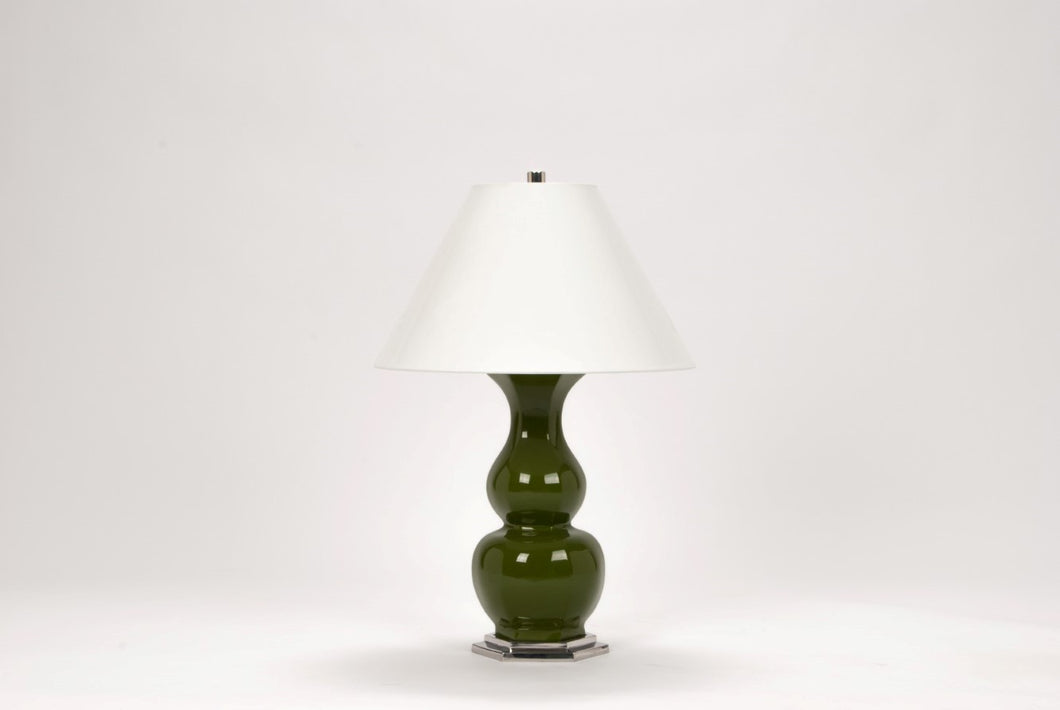 Sebastian Lamp in Moss Green Lacquer