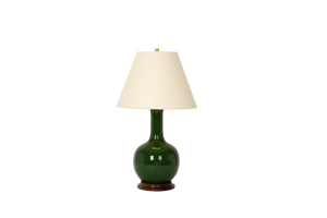 Single Gourd Large Lamp in Dark Green