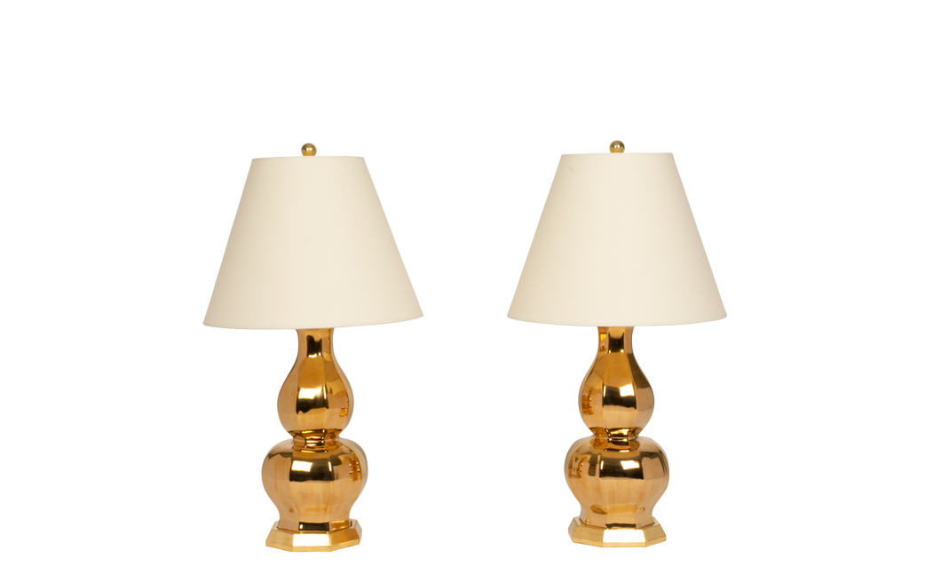 Alexander Small Lamp Pair in Gold Luster