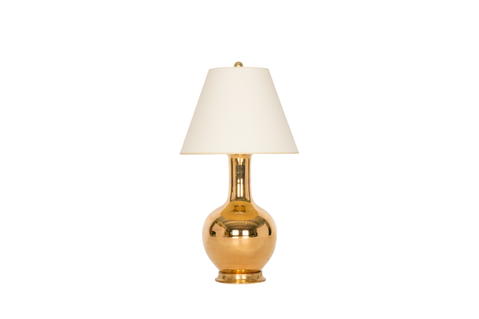 Single Gourd Small Lamp in Gold Luster