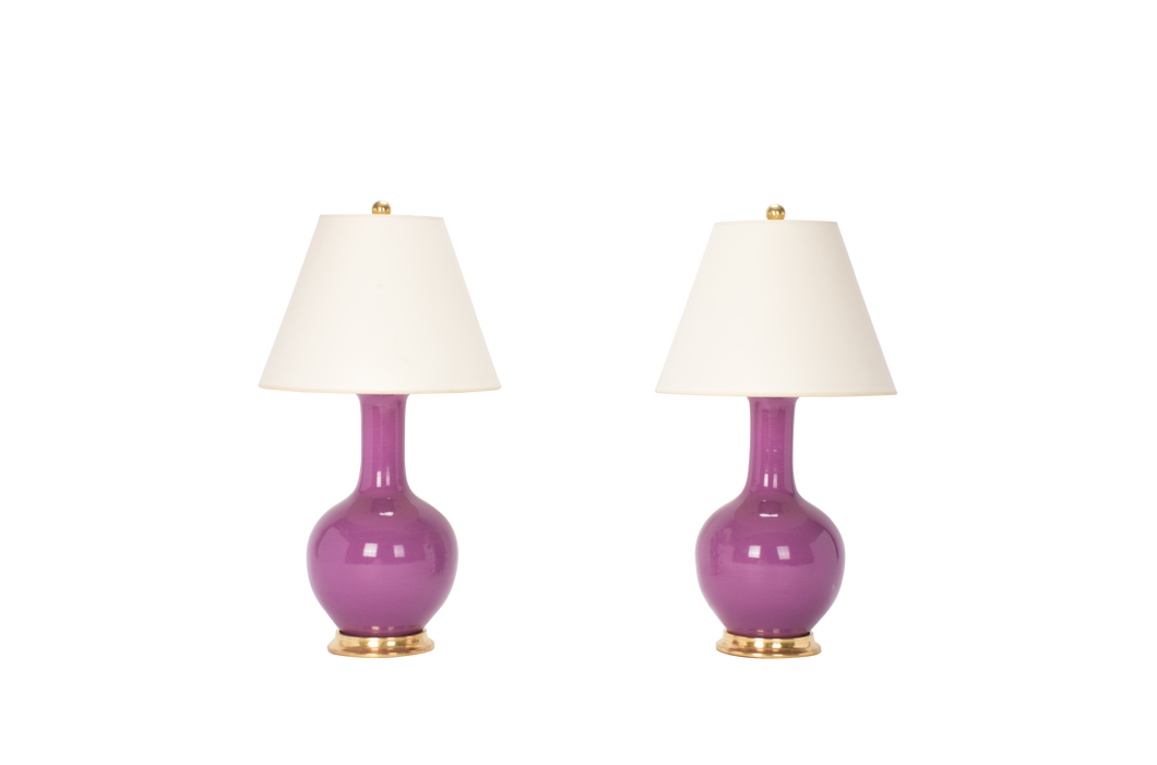 Single Gourd Small Lamp Pair in Lavender