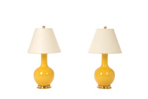 Single Gourd Small Lamp Pair in Marigold