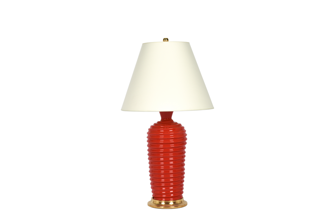 Spiral Lamp in Coral