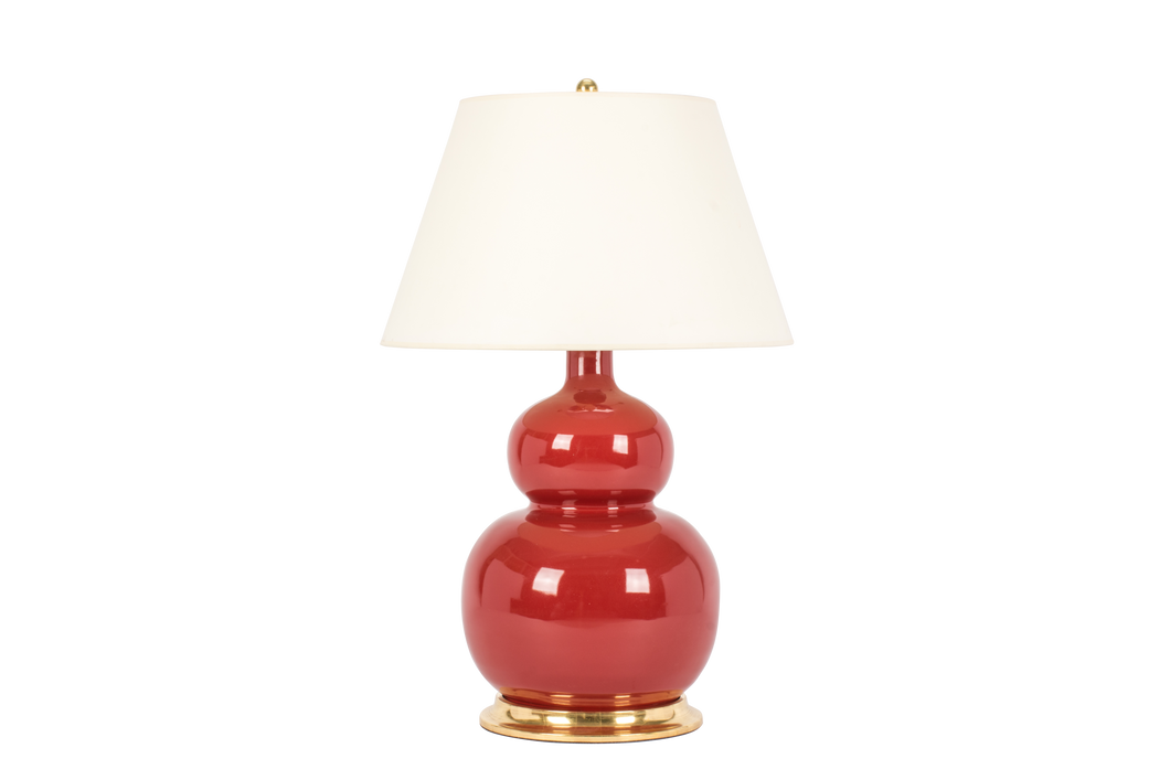 Stout Double Gourd Lamp in Scarlet
